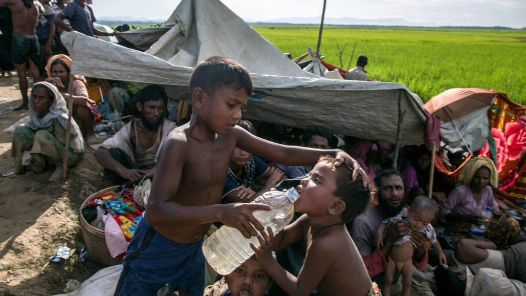 The Need for Clean Water in the Heat of Rakhine' photo