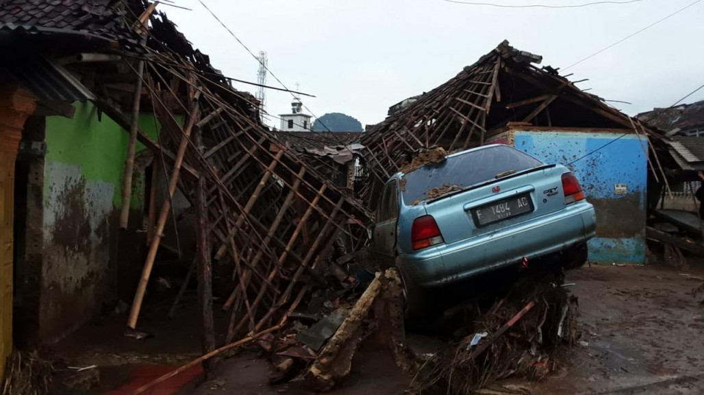 ACT Emergency Response Team on Standby at Flood-Hit Area in Sukabumi