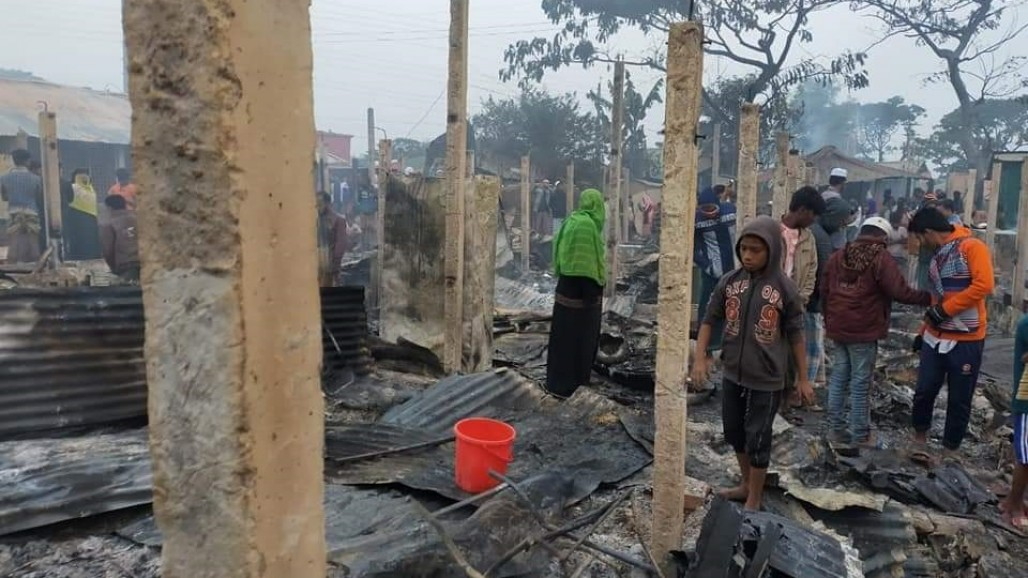 Over 500 Rohingya Shelters at Cox's Bazar Burned Down photo