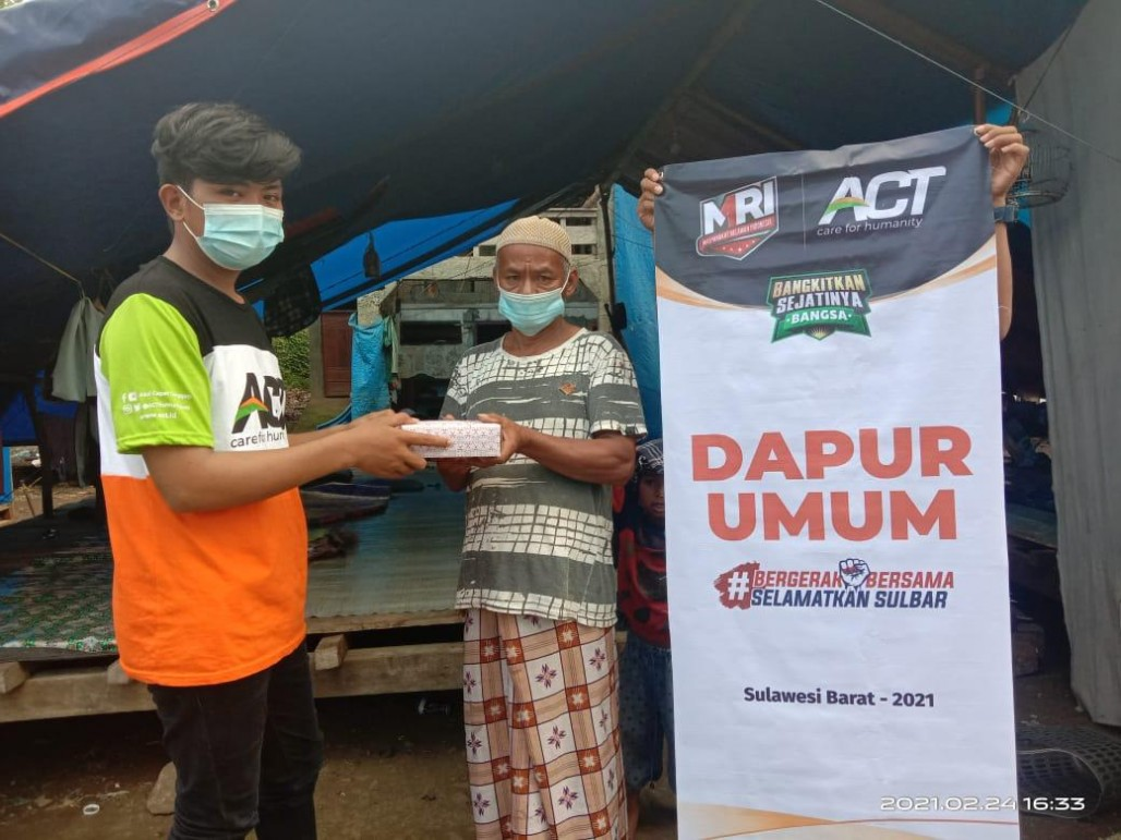 Meal Packages Served Daily for West Sulawesi Earthquake Survivors