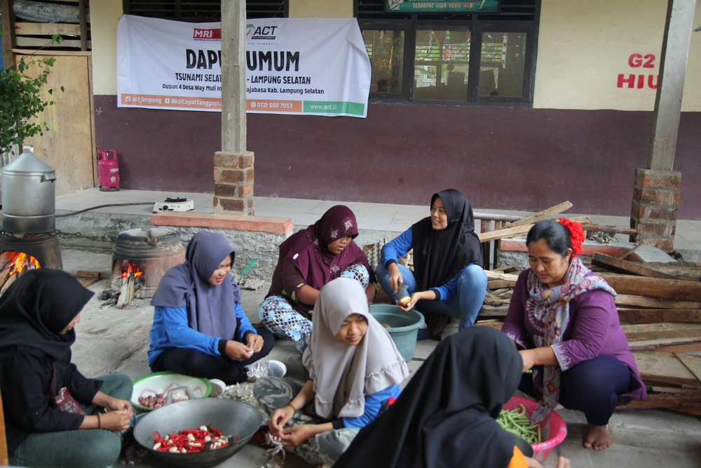 Nine Posts and Public Kitchens Established for Tsunami Victims in Lampung's image