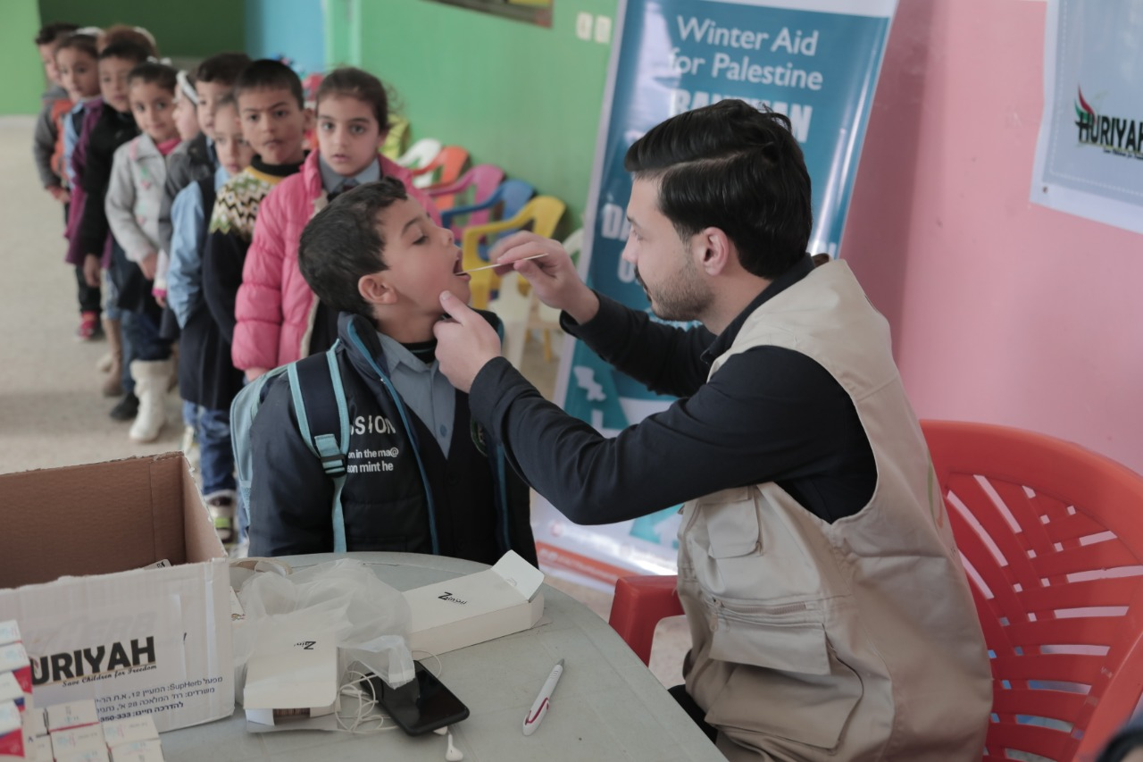 ACT Provides Free Healthcare for Students in Gaza during WInter
