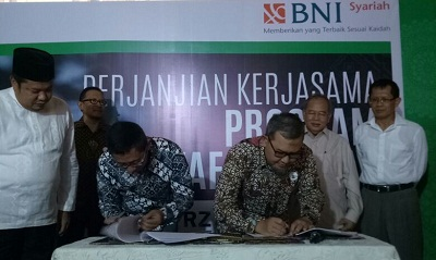 Hasanah Waqf from BNI Sharia Supports the Development of Global Wakaf Tower's image