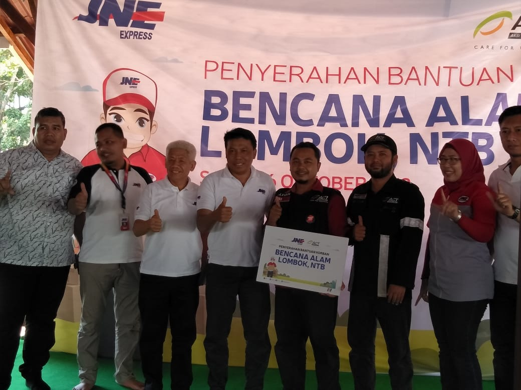 JNE Collaborates with ACT to Help People of Lombok's image
