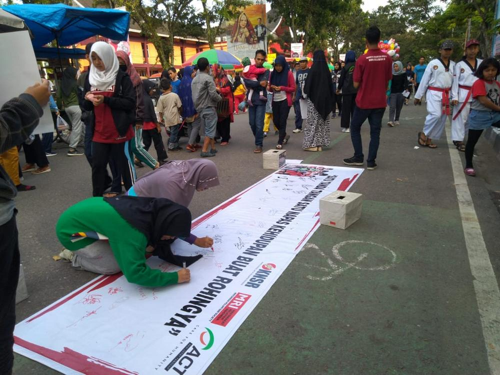MRI - ACT West Sumatera Holds Rally in Solidarity with Rohingya