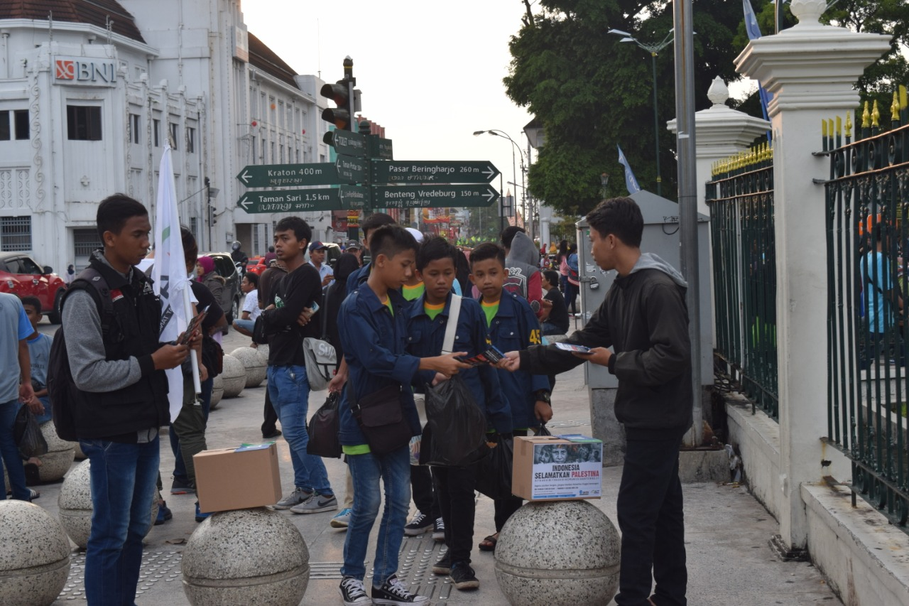 People of Yogyakarta Show Support for Palestine