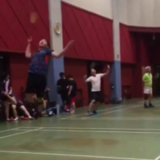 9029c8dd0 Play badminton with Aaron Goh on