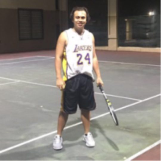 c8c3bf22d7192 Play tennis with Jerby Gabatin on
