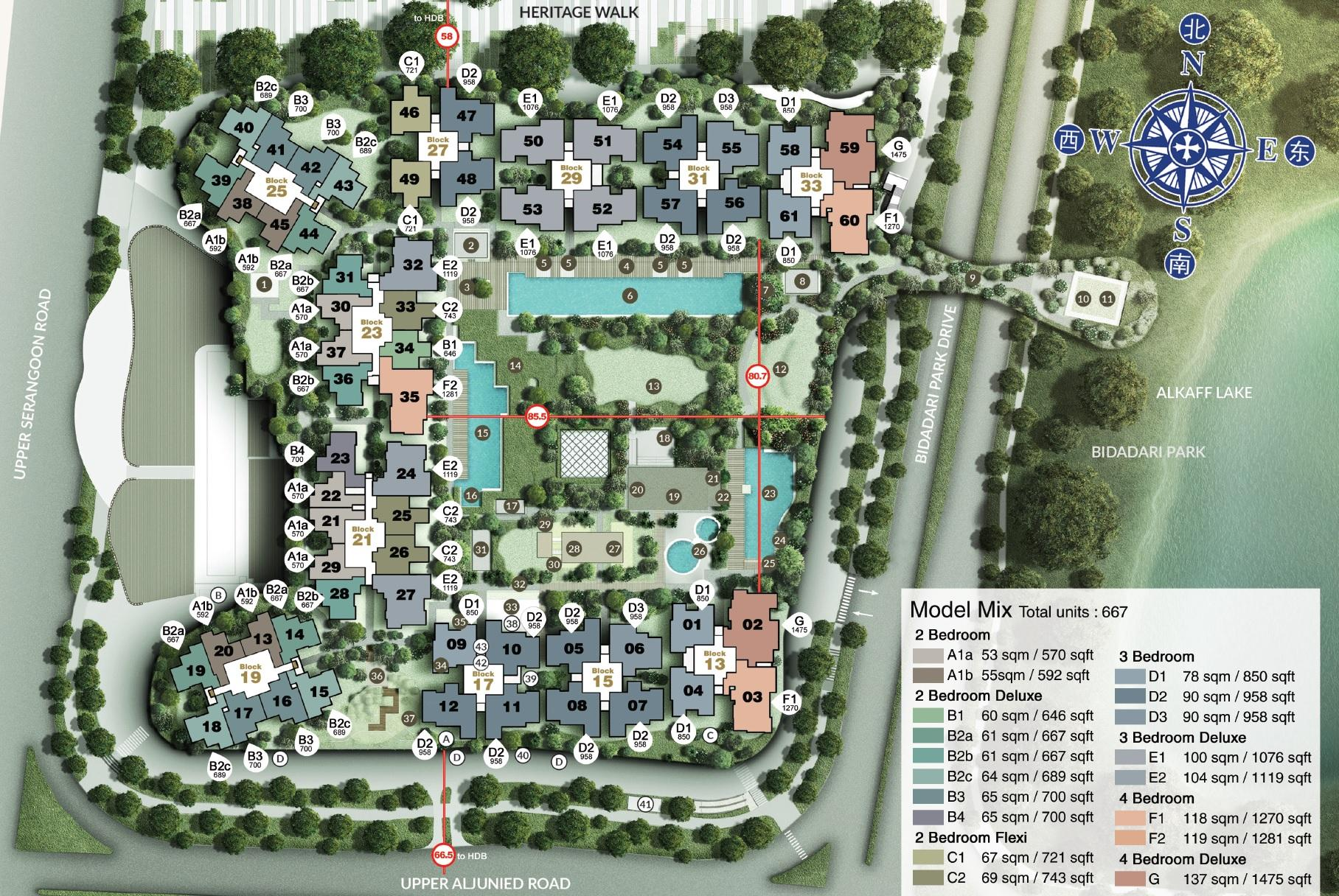 Site And Floor Plan The Woodleigh Residences Official Website