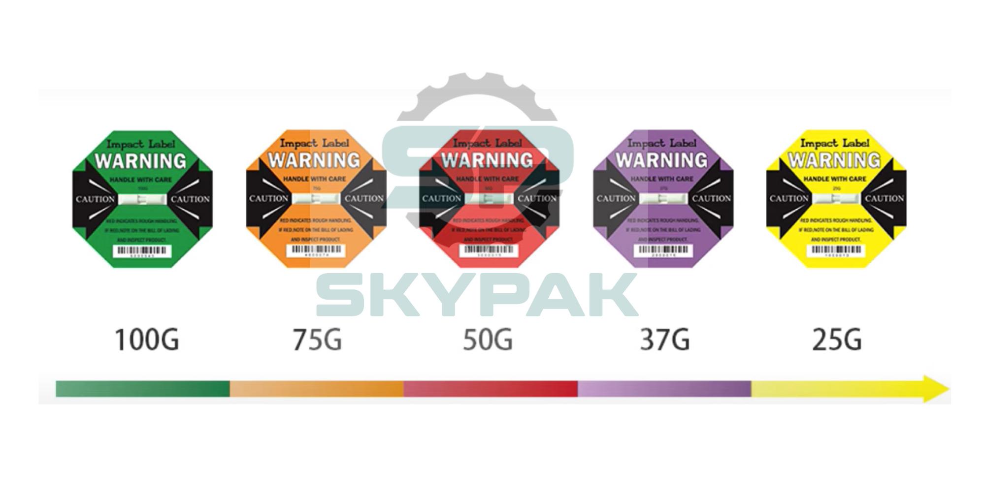 Nhãn phát hiện va đập Dual Impact Label 25G-50G SKYPAK
