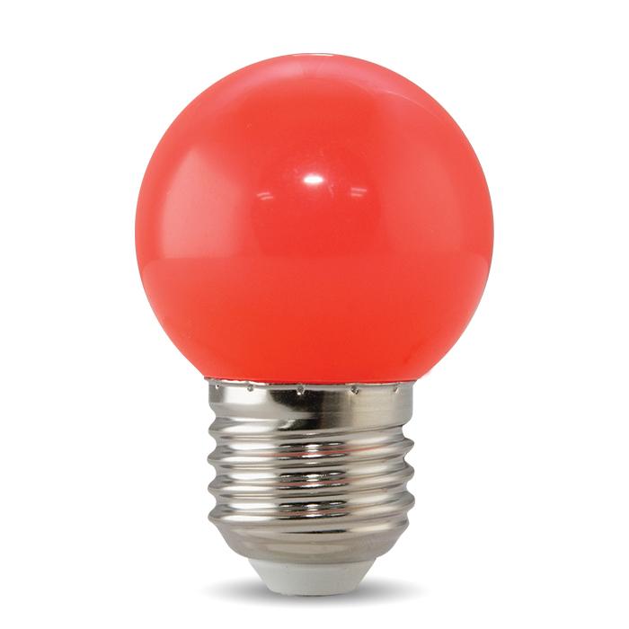 Bóng đèn LED BULB tròn màu 1W màu đỏ - A45 R Rạng Đông