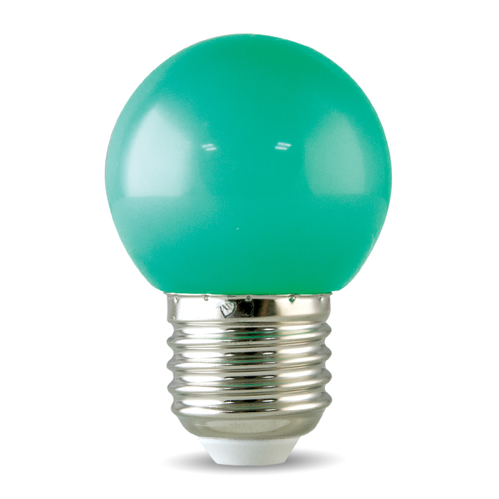 Bóng đèn LED BULB tròn màu 1W màu xanh lá - A45 G Rạng Đông
