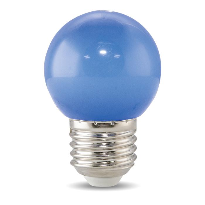 Bóng đèn LED BULB tròn màu 1W màu xanh lam -  A45 B Rạng Đông