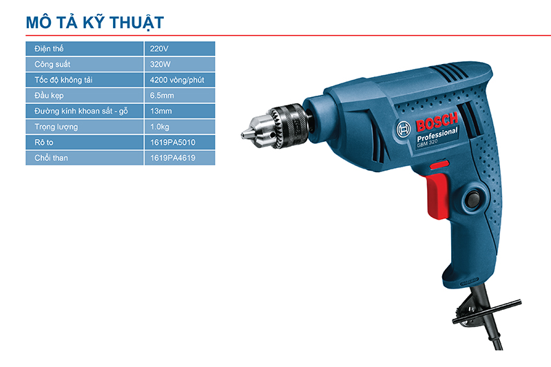Máy khoan GBM 320 06011A45K0 Bosch