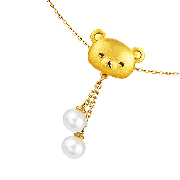 Rilakkuma™ Collection Gold Pendant with Pearls