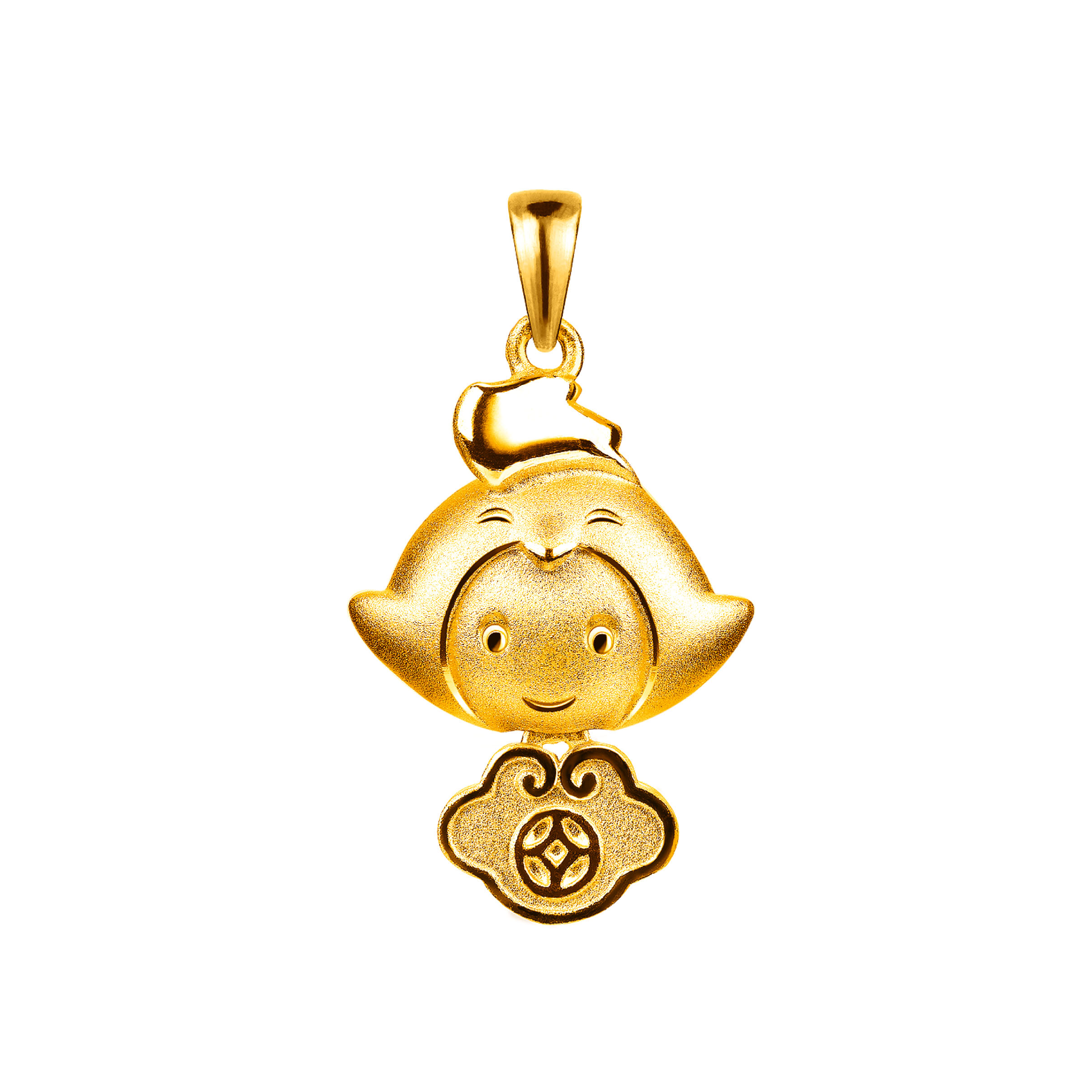 12 Chinese Zodiac Gold Pendant-Rooster