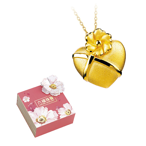 「Mother's Day」Au 999 Gold Heart shaped Pendant