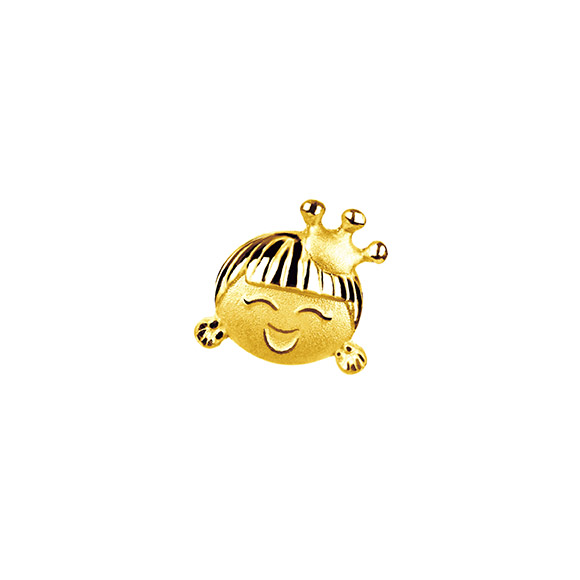 Hugging Family Ting-ting Gold Earring