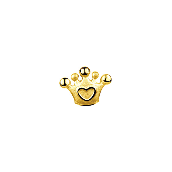 Hugging Family Crown Gold Earring