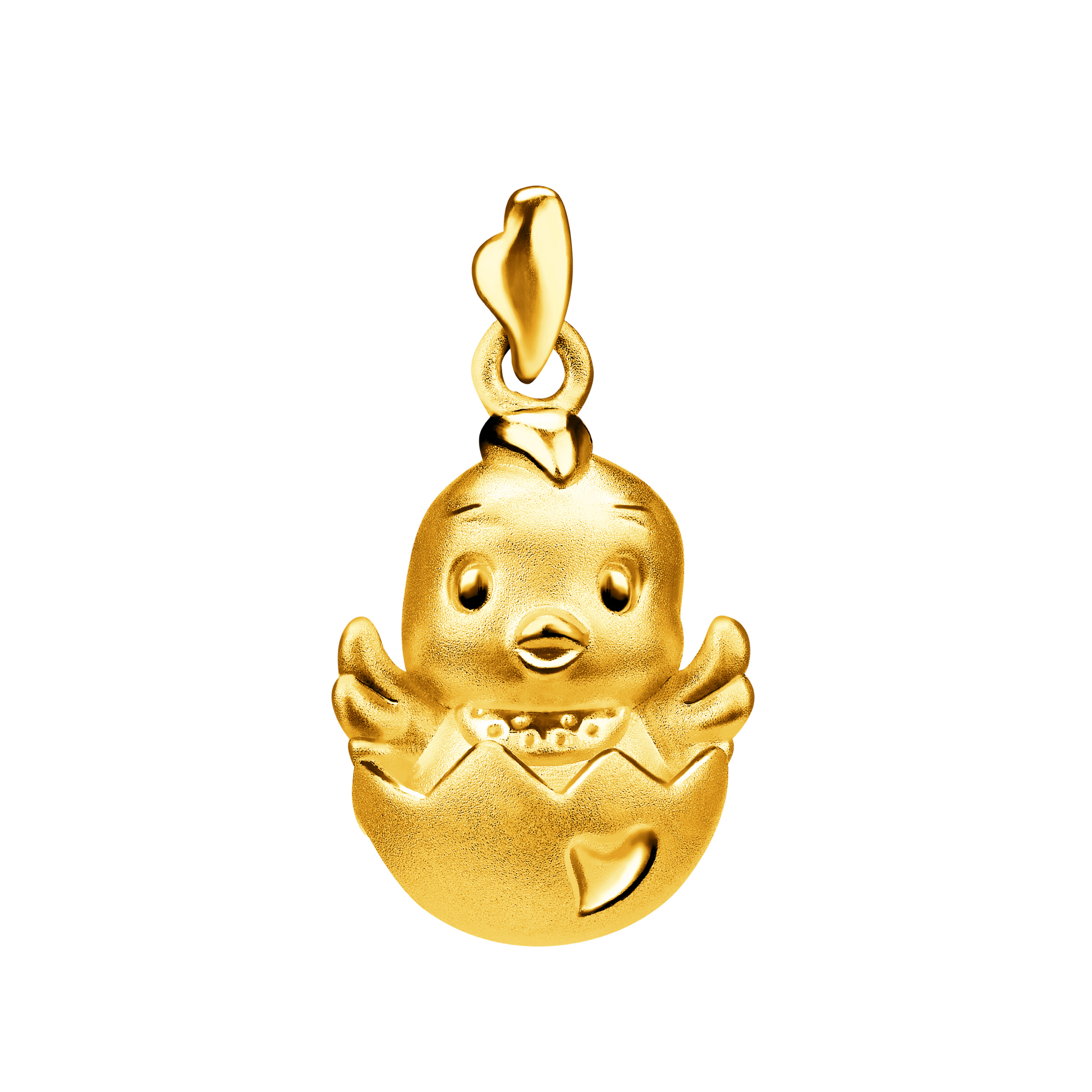 Cute Gold Rooster Pendant