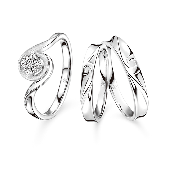 Wedding Collection Match Your Pair of Wedding Rings collection「真愛如絲」Set Rings