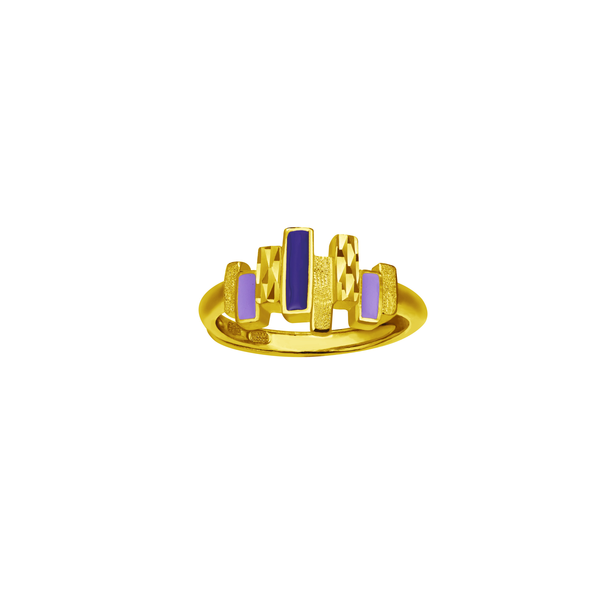 Gold Ring with Enamel