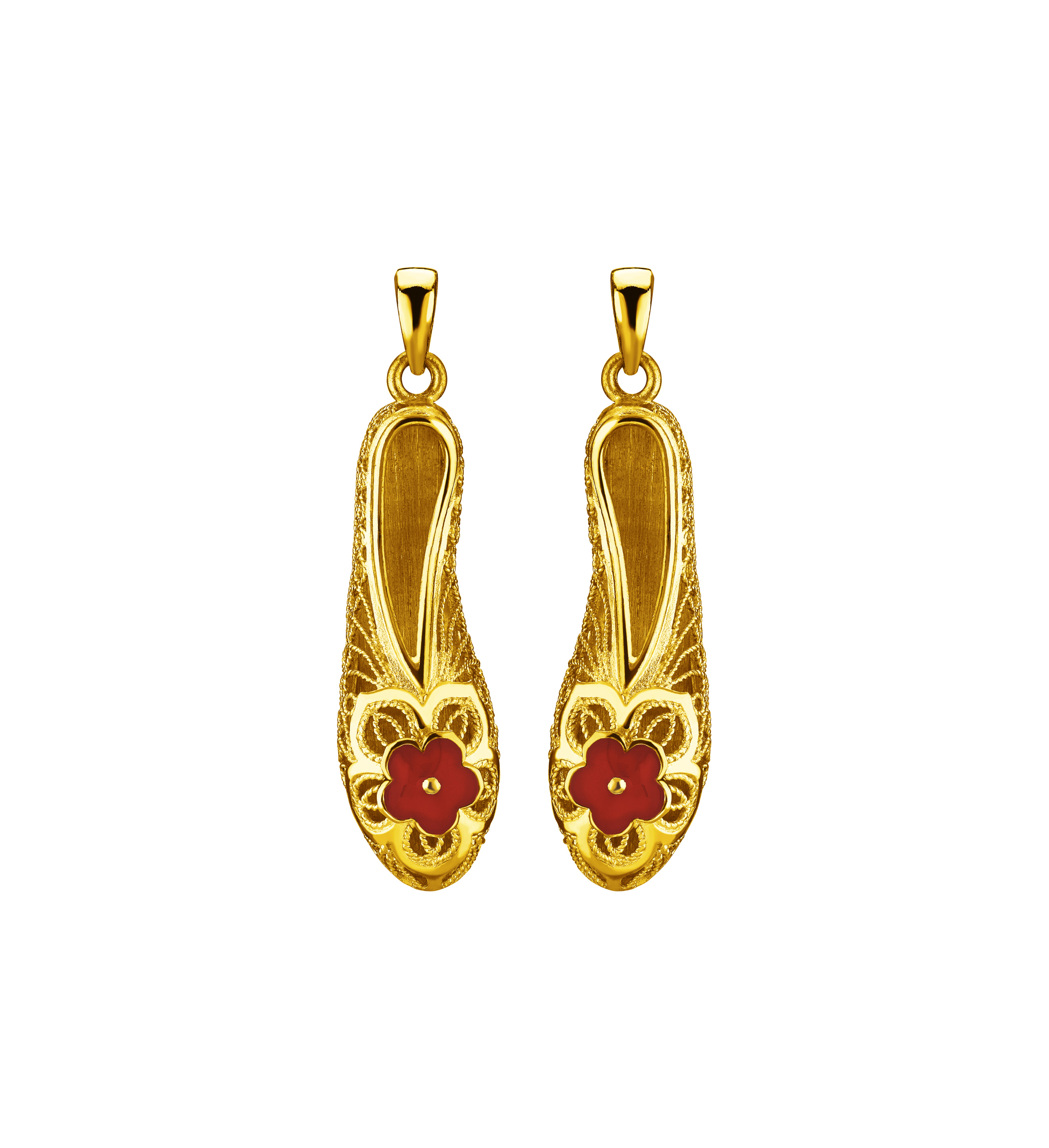 Beloved Collection Nine Treasures-Gold Embroidered Shoes