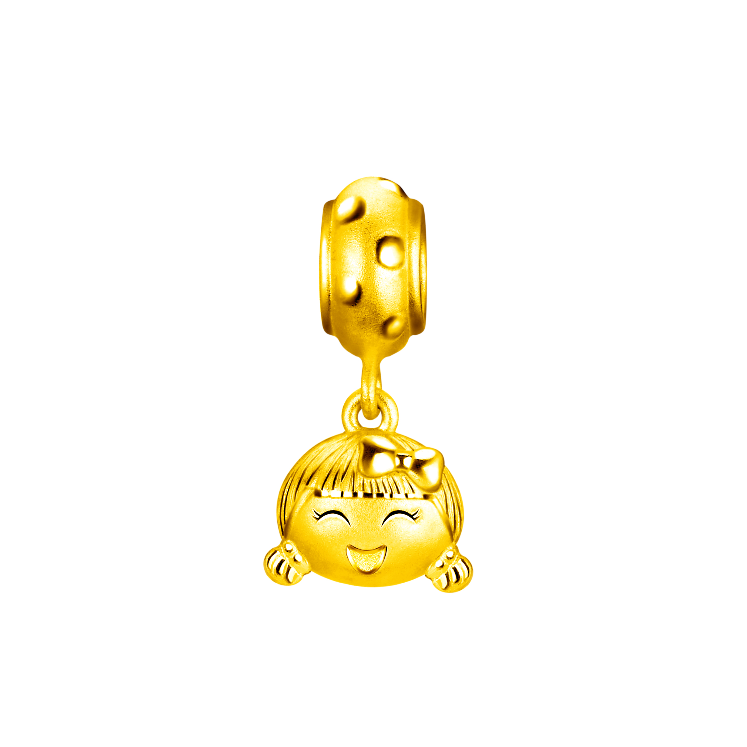 Hugging Family Ting-ting Three dimensional Gold Bell