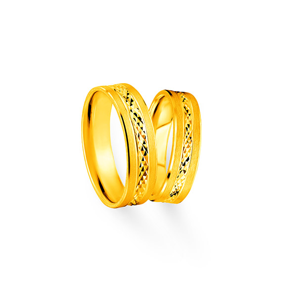 """Beloved Collection""""Faithful Love""""Gold Pair Rings"""