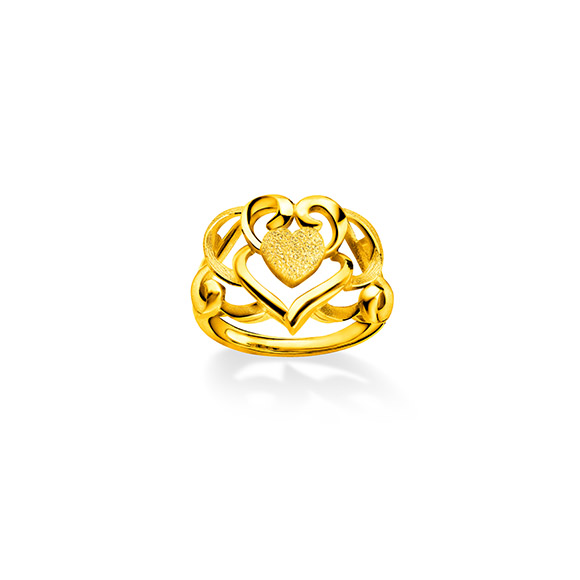 """Beloved Collection""""Dragon & Phoenix with Double Happiness""""Gold Ring"""