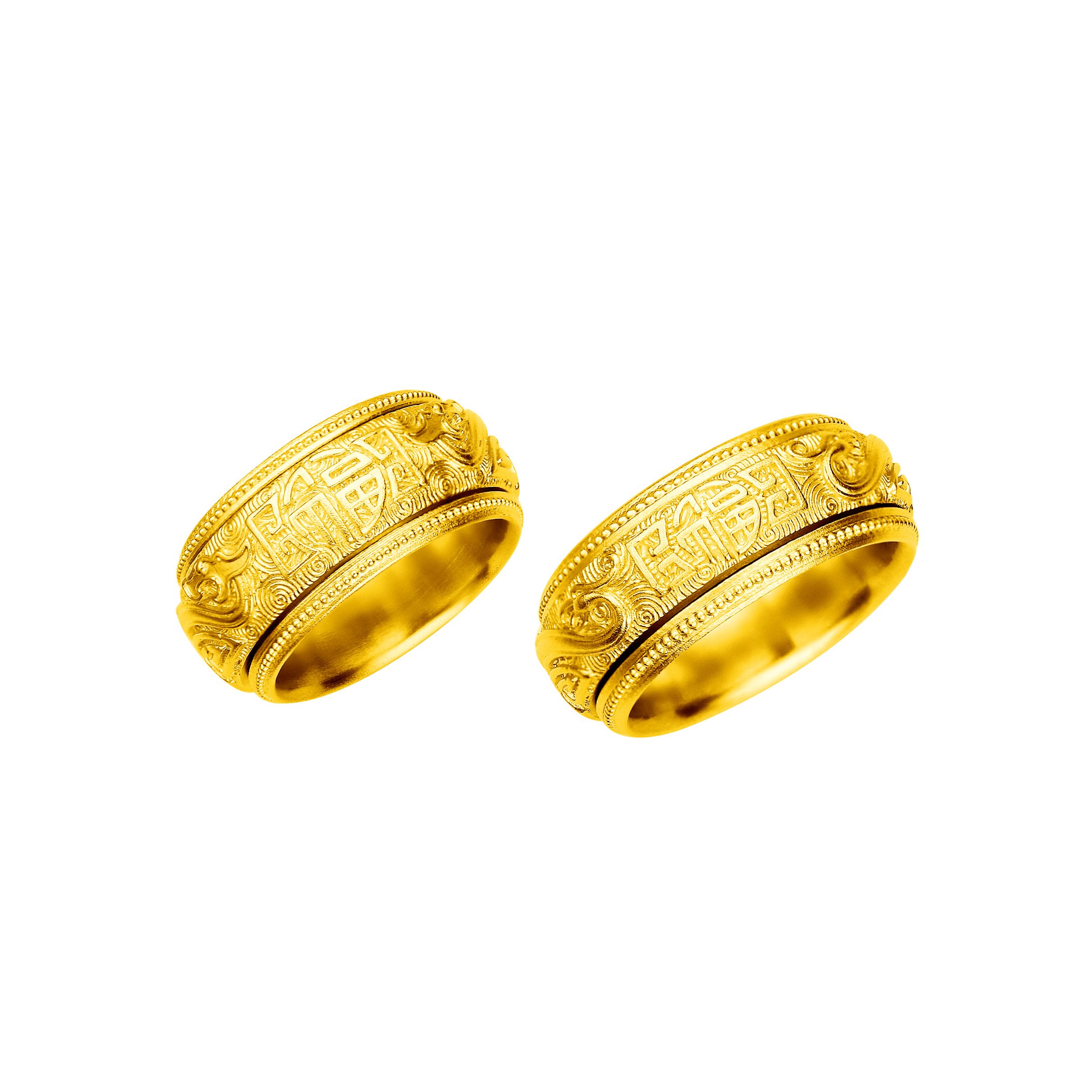 Antique Gold「慶福」Gold Rings