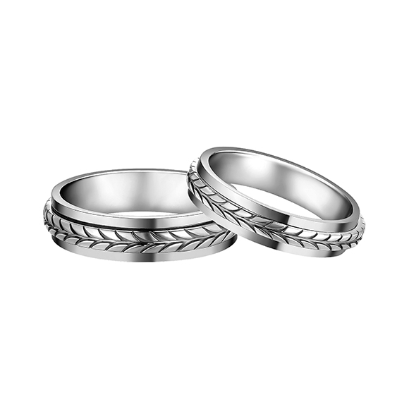 F-style Pt in Style Platinum Ring