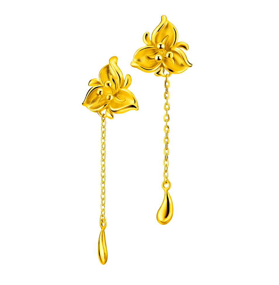 Beloved Collection Gold Earrings