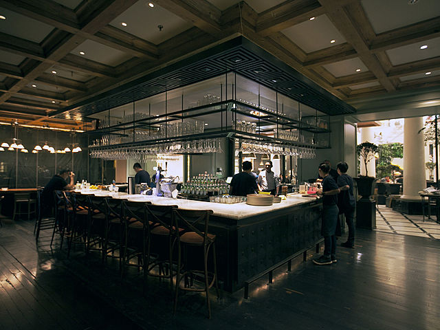 Modern and grand bar at Ninety Nine Grand Indonesia