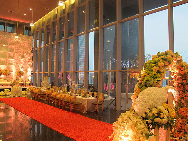 Beautifully decorated function hall at La'Seine Function Hall