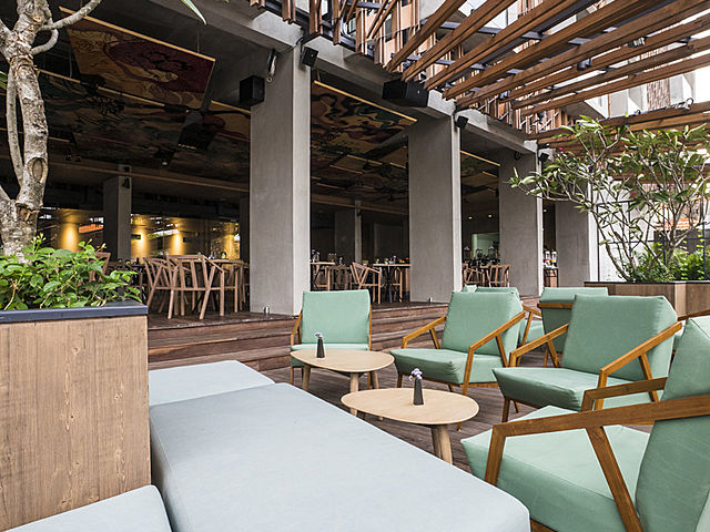 Modern and classy outdoor event space at Bart - Artotel Bali