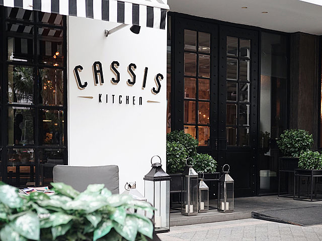 Exterior of the restaurant at Cassis Kitchen