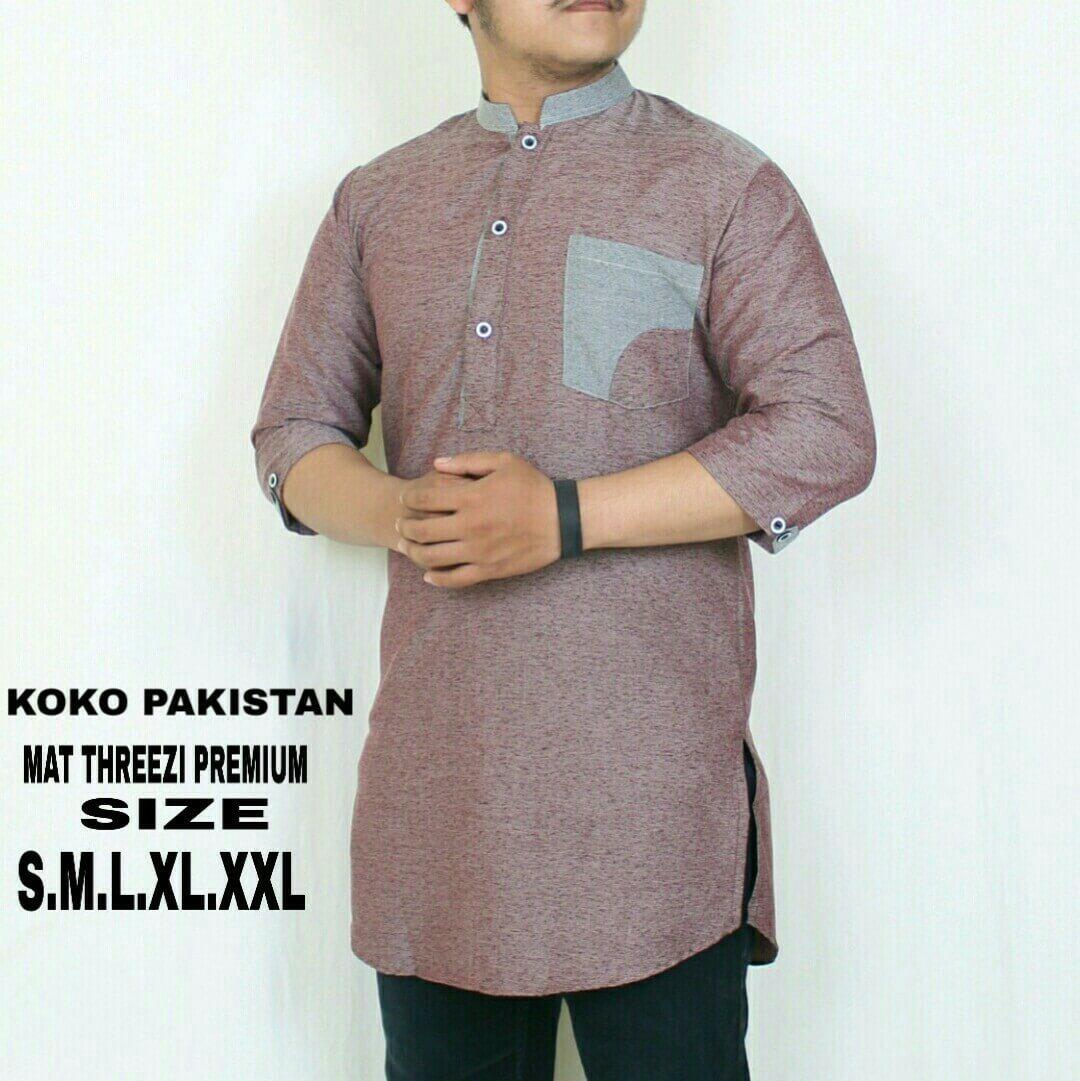 Krinkz Store - Kurta Pria / Baju Koko Pakistan (Ready Big Size) - QPM 01