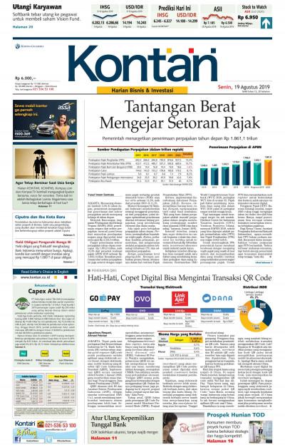 Kontan Harian - 19 Agustus 2019