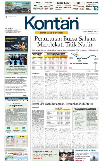 Kontan Harian - 15 Mei 2019