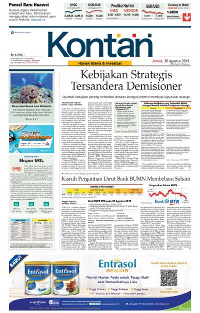 Kontan Harian - 30 Agustus 2019