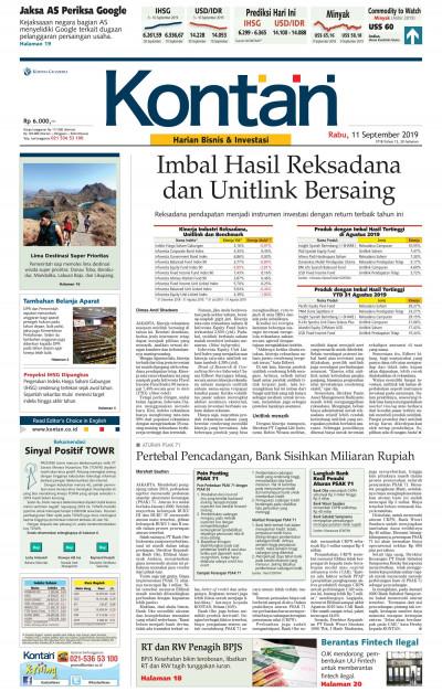 Kontan Harian - 11 September 2019