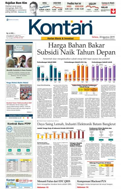 Kontan Harian - 20 Agustus 2019