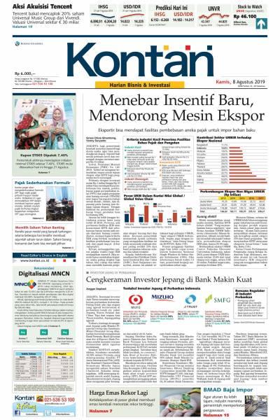 Kontan Harian - 08 Agustus 2019