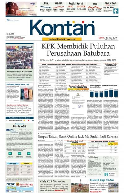 Kontan Harian - 29 Juli 2019