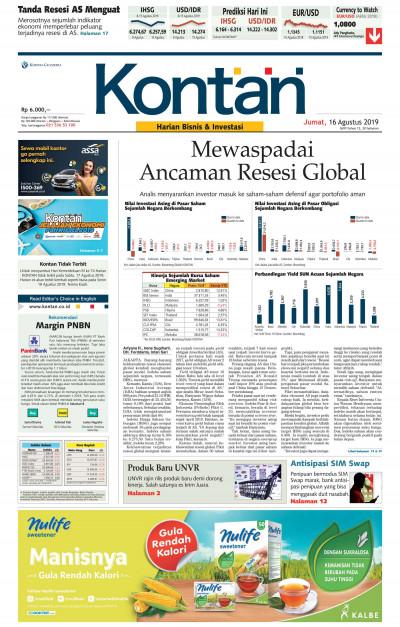 Kontan Harian - 16 Agustus 2019