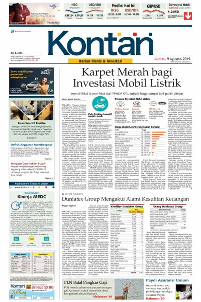 Kontan Harian - 09 Agustus 2019
