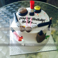 This double deck is a dream cake for a makeup lover. If your loved one is makeup addict, this makeup themed delicious fondant cake will be the best surprise for her. If you would like to change the design in your own way provide your information and we will bake according to you. The cake can be delivered online, which is the best online cake delivery service in Kathmandu.   All cakes are baked with hygiene and quality in the top of our priority at our own state-of-the-art baking facility and quality checked twice by our expert QC team before delivery. You can send cakes or gifts to your loved ones in Nepal or shop online for yourself in Nepal with UG Bazaar, a pioneer in online shopping in Nepal.