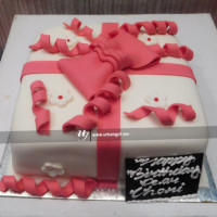 Birthday Cake beautifully designed with fondant ribbon. The cake itself seems like a gift package. Gift this cake and make surprise your special ones. Order this cake from your favorite online shop in Nepal  All cakes are baked with hygiene and quality in the top of our priority at our own state-of-the-art baking facility and quality checked twice by our expert QC team before delivery. You can send cakes or gifts to your loved ones in Nepal or shop online for yourself in Nepal with UG Bazaar, a pioneer in online shopping in Nepal.