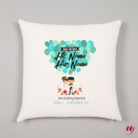 <p>If someone you know are getting married then this would be a perfect gift for them. Get them this cushion to make their special days together more special.</p>
